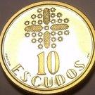 PROOF PORTUGAL 1999 10 ESCUDOS~RARE~7K MINTED~FREE SHIP