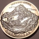 MASSIVE GEM UNC NEW ZEALAND 1970 DOLLAR~MOUNT COOK~FREE SHIPPING~ROYAL VISIT~