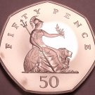 Gem Cameo Proof Great Britain 2001 50 Pence~Proofs R Best Coins~Free Shipping