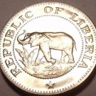 Rare Proof Liberia 1968 5 Cents~Only 14,396 Minted~Elephant Coin~Free Ship