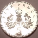 Cameo Proof Great Britain 1982 5 Pence~Only 107,000 Minted~Fantastic~Free Ship