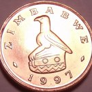 Gem Unc Zimbabwe 1997 Cent~Bird Statue~We Have Gem Unc World Coins~Free Shipping