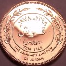Rare Proof Kingdon Of Jordan AH-1398 (1978) 10 Fils~Only 20,000 Minted~Free Ship