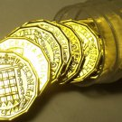 Rare Proof Roll (20 Coins) Great Britain 1970 3 Pence~Last Year Ever Made~Fr/Shi