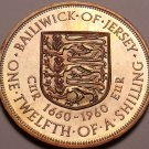 Rare Proof Jersey 1960 1/12th of a Shilling~Only 4,200 Minted~Fantastic~Free Sh