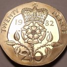 Cameo Proof Great Britain 1982 20 Pence~Only 107,000 Minted~Excellent~Free Ship