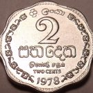 1978 Gem Unc Sri Lanka 1978 2 Cents~Last Year Ever Minted This Type~Free Ship