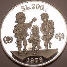 Rare Silver Proof Bolivia 1979 200 Pesos~International Year of the Child~Fr/Ship