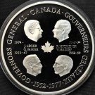 Massive Silver Proof Canada 1977 Governors General Medallion~Save The Queen~Fr/S