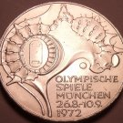 Unc Silver Germany 1972-D 10 Mark~Munich Olympics~Faster Higher Stronger~Free Sh