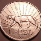 Large Silver Oriental Uruguay 1942-SO Peso~Puma With Sun Rays~Only Year~Free Shi