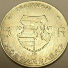 Huge Silver Hungary 1947-BP 5 Forint~Lajos Kossuth~Free Shipping