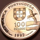 Rare Bi-Metal Proof Portugal 1997-INCM 100 Escudos~Lisbon World Expo~Free Ship