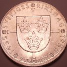 Unc Rare Silver Sweden 1935-G 5 Kronor~500th Anniversary Of Riksdag~Free Ship