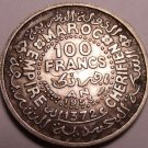 Silver Morocco AH1372 (1953) 100 Francs~Fantastic~Rular Mohammed V~Free Shipping