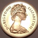 Cameo Proof Great Britain 1981 Penny~Collecxt The Best~100,000 Minted~Free Ship