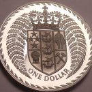 Rare Cameo Proof New Zealand 1975 Dollar~Only 10,000 Minted~Fantastic~Free Ship