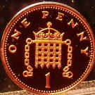 Cameo Proof Great Britain 2004 Penny~Crowned Portcullis With Chains~Free Ship