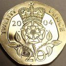 Cameo Proof Great Britain 2004 20 Pence~Crowned Double Rose~Proofs Are Best~Fr/S
