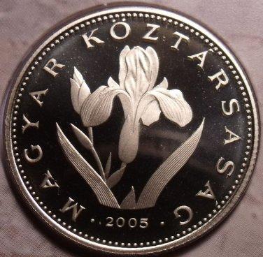 Rare Proof Hungary 2005-BP 20 Forint~Only 7,000 Minted~Hungarian Iris~Free Ship