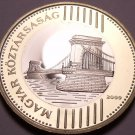 Rare Bi-Metal Proof Hungary 2009-BP 200 Forint~Only 5,000 Minted~Chain Bridge~FS