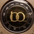 Rare Bi-Metal Proof Hungary 2005-BP 100 Forint~Only 7,000 Minted In Budapest~F/S