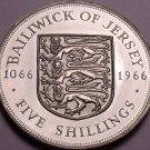Huge Proof Jersey 1966 5 Shillings~Norman Conquest~Only 30,000 Minted~Free Ship