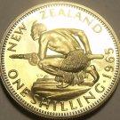 Rare Proof New Zealand 1965 Shilling~Maori Warrior~25,000 Minted~Free Shipping
