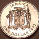Rare Proof Jamaica 1972 Dollar~Only 17,000 Minted~First Prime Minister~Free Ship