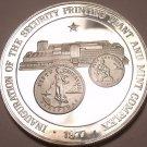 Massive Rare Proof Silver Philippines 1977 50 Piso~The New Mint Facility~Fr/Ship
