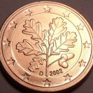 Gem Unc Germany 2002-D 5 Euro Cents~Oak Leaves~Munich Mint~Free Shipping