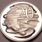 Cameo Proof Australia 1983 20 Cents~80,000  Minted~Duckbill Platypus~Free Ship