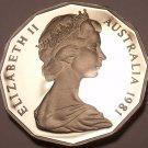 Cameo Proof Australia 1981 50 Cents~Only 86,000 Minted~Kangaroo & Emu~Free Ship