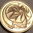 Cameo Proof Australia 1977 2 Cents~Only 55,000 Minted~Frill-necked lizard~Fr/Shi