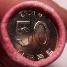 Gem Unc Original Roll (50) South Korea 2010 FAO Issue 50 Won~Fantastic~Free Ship