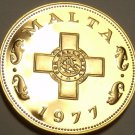 Rare Cameo Proof Malta 1977 Cent~The George Cross~Only 6,884 Minted~Free Ship