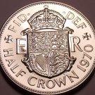 Huge Proof Great Britain 1970 Half Crown~Last Year Ever Minted~Fantastic~Free Sh