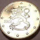 Gem Unc Finland 2005 10 Euro Cents~Standing Lion~Fantastic~Free Shipping