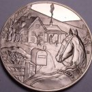 Solid Bronze Proof Franklin Mint Medallion~Home For Christmas~Awesome~Free Ship