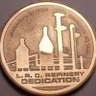 Liberian Refining Company Refinery Dedication Bronze Proof Medallion~Free Ship