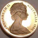 Cameo Proof Australia 1980 2 Cents~Only 68,000 Minted~Frill-Necked Lizard~Fr/Shi