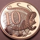 Cameo Proof Australia 1980 10 Cents~Only 68,000 Minted~Lyrebird~Free Shipping