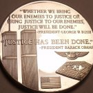 Massive Silver-Plated Proof Medallion~Twin Towers-911~Justice Has Been Done~Fr/S