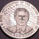 Gem Unc Liberia 2001 $10.00~George Bush 43rd President Of The United States~Fr/S