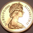Cameo Proof Great Britain 1980 2 Pence~Welsh Plume~Only 143,000 Minted~Free Ship