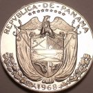 Rare Proof Panama 1968 1/4 Balboa~Only 23,210 Minted~Awesome~Free Shipping