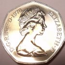 Rare Proof Great Britain 1978 50 Pence~Only 88,000 Minted~Britannia~Free Ship