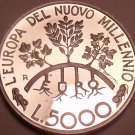 Silver Proof San Marino 1998-R 5000 Lire~I Leave You Free~Ivy Olive Oak Trees~FS