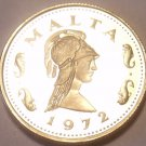 Rare Proof Malta 1972 2 Cents~Queen Of The  Amazons~Only 13,000 Minted~Free Ship