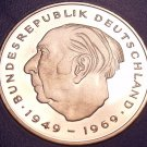 Gem Cameo Proof Germany 1981-F 2 Marks~Theodor Heuss~Only 91,000 Minted~Free Shi